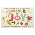Joy , Christmas Holly & Ornament Decorations (25 Pack) (Christmas Pass-around Cards Series) Cards
