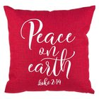 Christmas Pillow: Peace on Earth 100% Polyester 457 X 457mm (Luke 2:14) Soft Goods