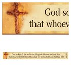 Magnet Strip: God So Loved the World... (John 3:16) Novelty