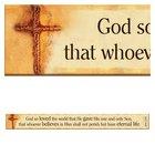 Magnet Strip: God So Loved the World... (John 3:16) Novelty