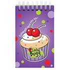 Laedee Bugg Notepad: Cupcake With Scripture Spiral