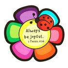 Magnet Laedee Bugg Die-Cut: Flower - Always Be Joyful Novelty