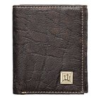 Mens Genuine Leather Wallet: 3 Crosses Soft Goods