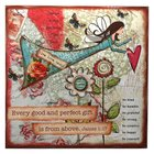 Gratitude Large Wooden Hanging Block: Every Good and Perfect Gift
