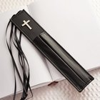 Bookmark With Two Pen Holders in Black Stationery
