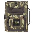 Bible Cover Medium Tri-Fold Organizer Armor of God Eph. 6: 13 Camo Poly-Canvas Bible Cover