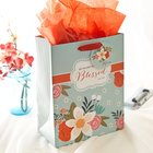 Gift Bag Medium: Blessed Flowers (Incl Tissue Paper & Gift Tag) Stationery