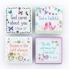 Magnetic Set of 4 Magnets: God Cares For You... Novelty