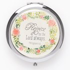 Compact Mirror: Rejoice in the Lord Always, Floral Homeware