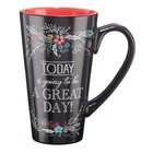 Ceramic Mug: Today is Going to Be a Great Day (Black/red) Homeware