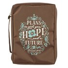 Bible Cover Fashion Large: Plans to Give You Hope and a Future, (Brown/light Blue) Bible Cover