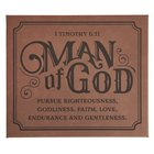 Wall Art: Man of God, Brown/Black (1 Timothy 6:11) Plaque