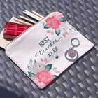 Zipper Pouch: Best Teacher, Canvas Roses (Best Teacher Ever Collection) Soft Goods