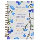 Spiral Journal: God, Grant Me the Serenity.... Hardcover (Blue Flowers) Spiral