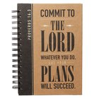 Spiral Journal: Graduation, Commit to the Lord... Black/Brown (Prov 16:3) Stationery