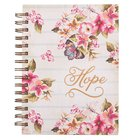 Wirebound Journal: Hope, Floral Spiral