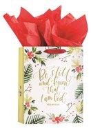 Christmas Gift Bag Medium: Be Still (Psalm 46:10 KJV) (Incl Two Sheets Of Tissue Paper) Stationery
