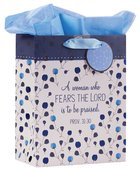 Gift Bag Medium: Proverbs 31:30 Collection, Blue/Floral Stationery