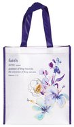Non-Woven Tote Bag: Faith, Blue Floral (Hebrews 11:1) Soft Goods