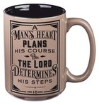 Ceramic Mug a Man's Heart (Prov 16: 9) (414ml) (A Man's Heart Collection) Homeware
