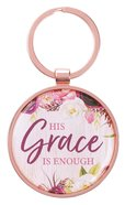 Keyring in Tin: Grace Burgundy Rose Gold (2 Cor 12:9) (His Grace Is Enough Collection) Jewellery