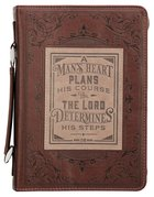 Bible Cover Large: A Man's Heart Brown (Prov 16:9) (A Man's Heart Collection) Imitation Leather