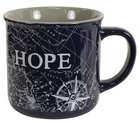 Ceramic Mug: Travel Range, Hope/Compass (Dark Blue/white) Homeware