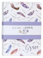 Notebook: Grace, Feathers/Birds Nest (Set Of 3) Paperback