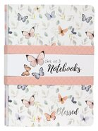 Notebook: Blessed, Butterflies (Set Of 3) Paperback
