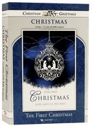 Christmas Boxed Cards: The First Christmas, Hanging Silver Ornament, (Matt 1:23 Kjv) Box