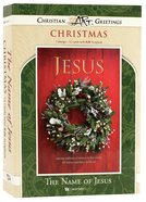 Christmas Boxed Cards: The Name of Jesus, Green Wreath (Matt 1:21 Kjv) Box