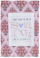 Cotton Tea Towel Love Collection: Soul Loves, Pink/Grey (Song Of Solomon 3:4) Homeware