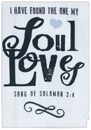 Cotton Tea Towel Love Collection: Found the One, Cream/Black/Pink Heart (Song Of Solomon 3:4) Homeware