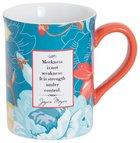 Joyce Meyer Ceramic Mug: Meekness is Not Weakness, Blue/Turquoise/Red Homeware