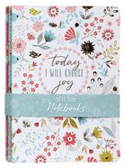 Notebook Set of 3: Today I Will Choose Joy, Floral Design (Choose Joy Collection Series) Pack