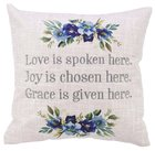 Square Pillow: Love Joy Grace, Floral (Love Joy Grace Collection) Soft Goods