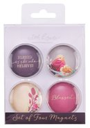 Glass Magnet Set of 4: Blessed is She (Blessed Is She Collection) Novelty
