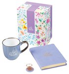 Boxed Gift Set: Be Brave Journal, Keyring and Ceramic Mug Purple (296ml) Pack