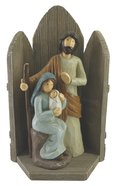 Resin Wood Look Nativity Set: Mary, Joseph, Baby Jesus Homeware