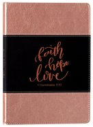 Leather Lux Journal: Faith Hope Love Imitation Leather