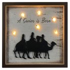 Christmas Mdf/Metal Light Up Shadow Box: A Savior is Born Homeware