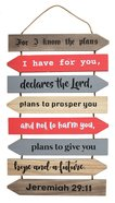 Mdf Wall Art: For I Know the Plans, Jeremiah 29:11 Plaque