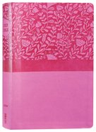 NIV Super Giant Print Reference Bible Pink (Red Letter Edition) Premium Imitation Leather