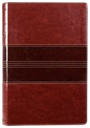 NRSV Thinline Bible Large Print Brown Premium Imitation Leather