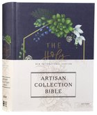 NIV Artisan Collection Bible Navy Floral (Red Letter Edition) Hardback