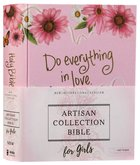 NIV Artisan Collection Bible For Girls Pink Daisies Designed Edges Under Gilding Comfort Print (Red Letter Edition) Hardback