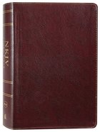NKJV Study Bible Burgundy Full-Color (Black Letter Edition) Bonded Leather