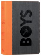 CSB Study Bible For Boys Charcoal/Orange Wood Design Leathertouch (Red Letter Edition) Imitation Leather