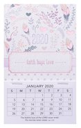 2020 Mini Magnetic Calendar: Faith, Hope, Love Calendar