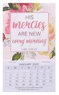 2020 Mini Magnetic Calendar: His Mercies Are New Every Morning, Lam 3:22-23 Calendar